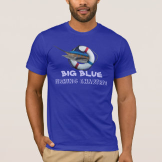 Blue Marlin fish logo T-Shirt
