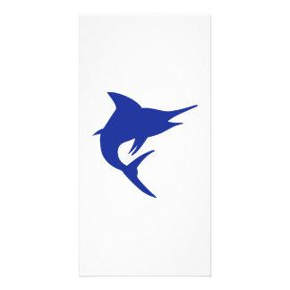 Blue Marlin Fish Photo Card