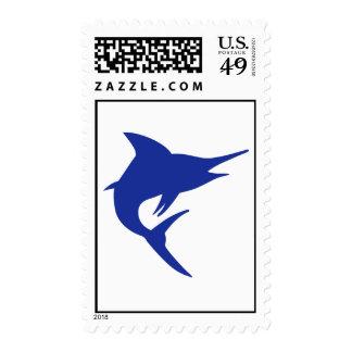 Blue Marlin Fish Postage Stamp