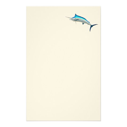 Blue Marlin Game Fish Stationery