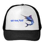 Blue Marlin Gone Fishing Cap Hats