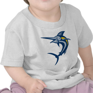 Blue marlin jumping isolated on white t shirt