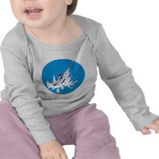 Blue marlin jumping t shirt
