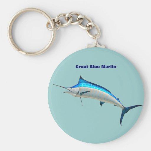 Blue Marlin Key Chains