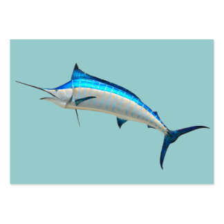 Blue Marlin Large Business Cards (Pack Of 100)
