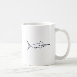 Blue Marlin Logo Coffee Mug