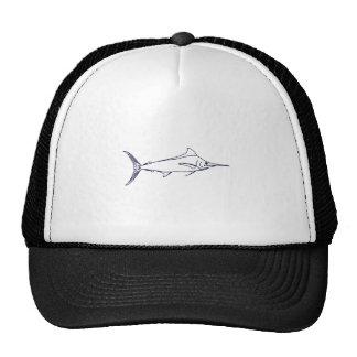 Blue Marlin Logo Trucker Hats