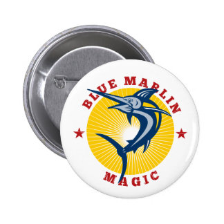 Blue marlin magic 2 inch round button