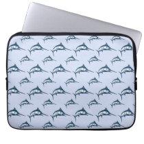 Blue Marlin Pattern Computer Sleeve