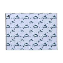 Blue Marlin Pattern Cover For iPad Mini