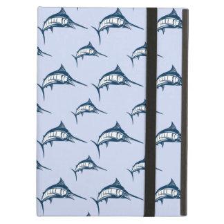 Blue Marlin Pattern iPad Folio Case