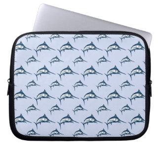 Blue Marlin Pattern Laptop Sleeve