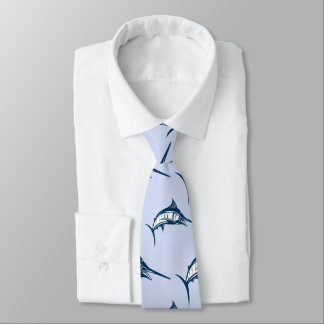 Blue Marlin Pattern Tie