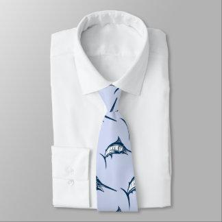 Blue Marlin Pattern Tie