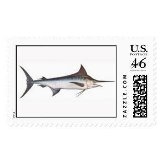 Blue Marlin Postage Stamp