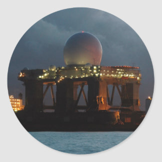 Blue Marlin Radar Ship Classic Round Sticker