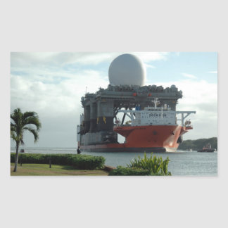 Blue Marlin Radar Ship Rectangular Sticker