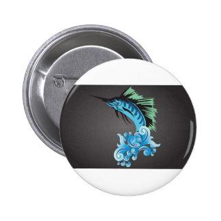 blue-marlin-vector pinback buttons