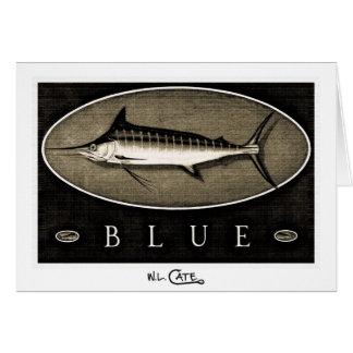Blue Marlin Vintage B&W Greeting & Note Cards