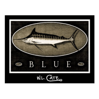 Blue Marlin Vintage Black & White Postcards