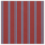 [ Thumbnail: Blue & Maroon Colored Stripes Pattern Fabric ]