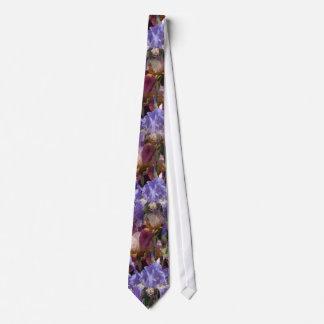Blue Maroon Iris Tie