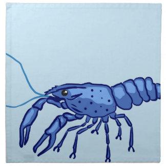 Blue Marron Sketch Napkin