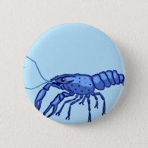 Blue Marron Sketch Pinback Button