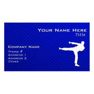Blue Martial Arts Business Card Templates