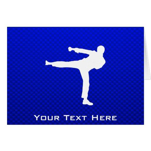 Blue Martial Arts Card