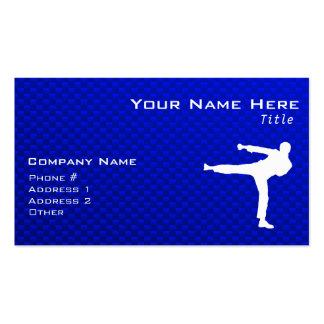 Blue Martial Arts Double-Sided Standard Business Cards (Pack Of 100)