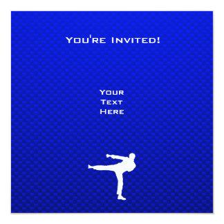 Blue Martial Arts Personalized Invites