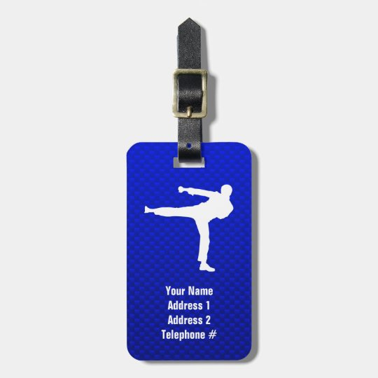 Blue Martial Arts Luggage Tag