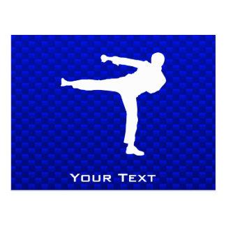 Blue Martial Arts Postcard