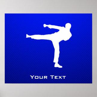 Blue Martial Arts Poster