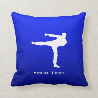 Blue Martial Arts Throw Pillow