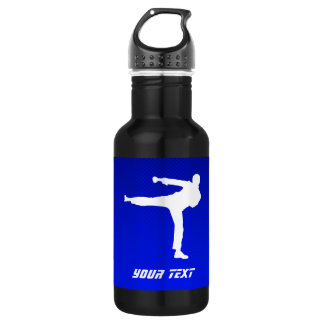 Blue Martial Arts Water Bottle