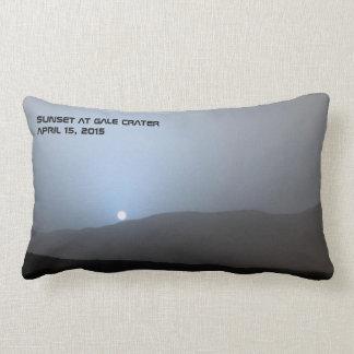 Blue Martian Sunset Lumbar Pillow