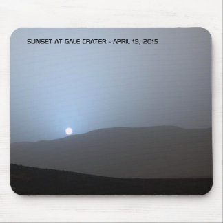 Blue Martian Sunset Mouse Pad