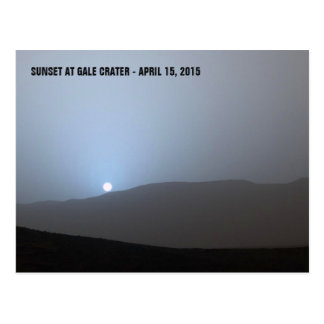 Blue Martian Sunset Postcard