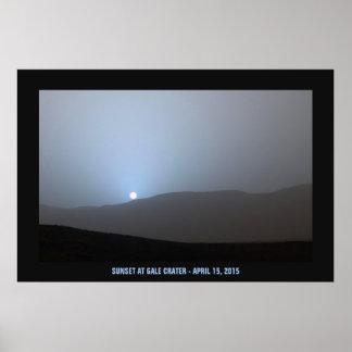 Blue Martian Sunset Poster