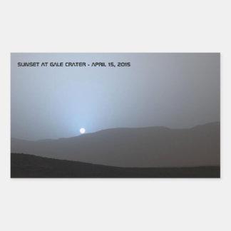 Blue Martian Sunset Rectangular Sticker