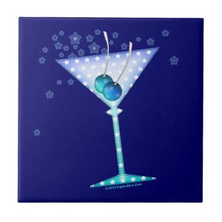 BLUE MARTINI Coaster Tile