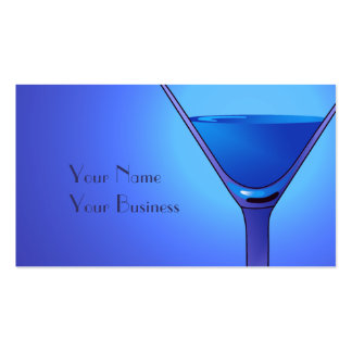 Blue Martini Cocktail Business Card Templates