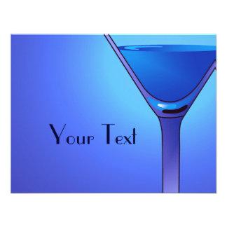 Blue Martini Cocktail Custom Announcements