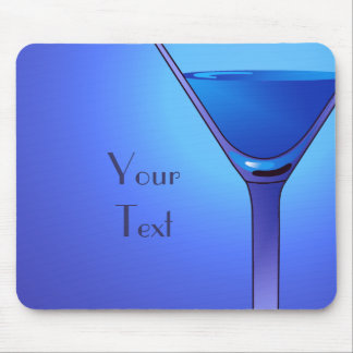 Blue Martini Cocktail Mousepad