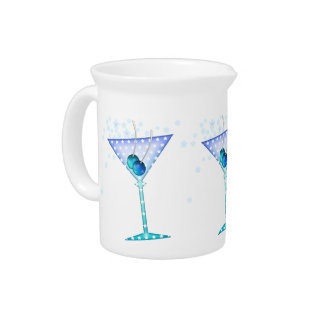 BLUE MARTINI Cocktail PITCHER
