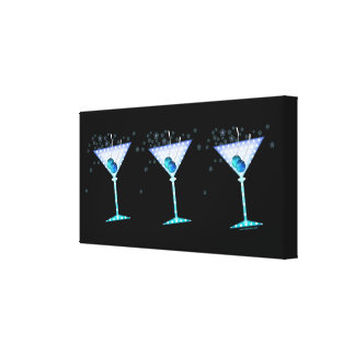 BLUE MARTINI Gallery Wrapped Canvas