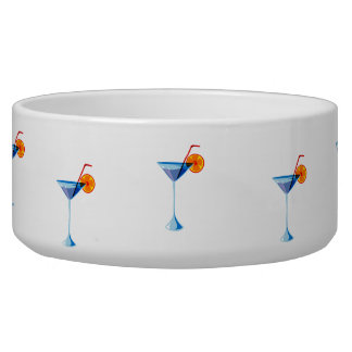 Blue martini glass red straw orange graphic.png pet water bowls