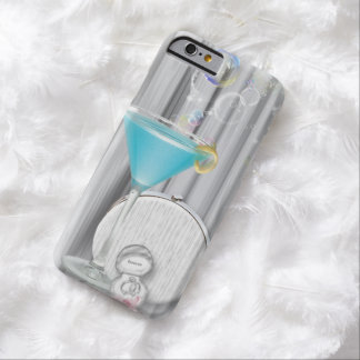 blue martini glasses modern party girl glamorous barely there iPhone 6 case
